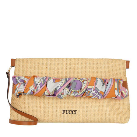 Emilio Pucci  Clutches - Clutch Bag Solid - in beige - für Damen orange