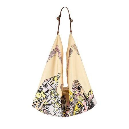 Emilio Pucci  Hobo Bag - Hobo Bag Piazzetta Capri - in light yellow - für Damen