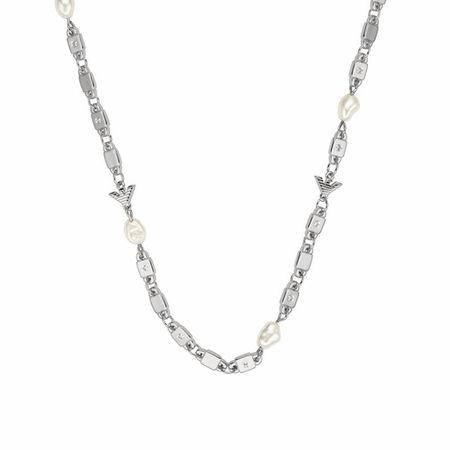 Emporio Armani  Halskette - Sterling Silver Chain-Link Necklace - in silver - für Damen