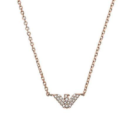 Emporio Armani  Halskette - Sterling Silver Necklace - in Quarz - für Damen