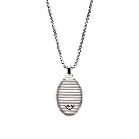 Emporio Armani  Halsketten - EGS2654040 Men Necklace - in silver - für Damen