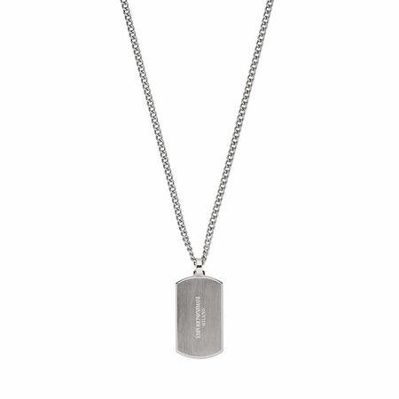 Emporio Armani  Halsketten - Men's Stainless Steel Dog Tag Necklace EGS2812040 - in silver - für Damen