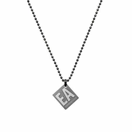 Emporio Armani  Halsketten - Men Stainless Steel Pendant Necklace - in gray - für Damen
