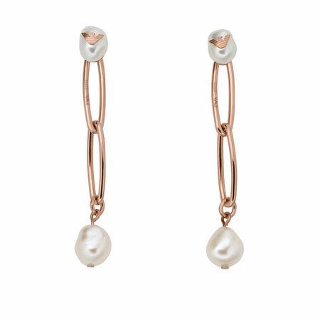 Emporio Armani  Ohrringe - Stainless Steel Drop Earrings - in Quarz - für Damen