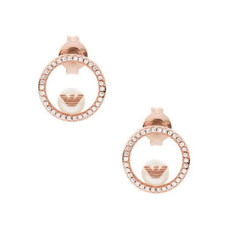 Emporio Armani  Ohrringe - Sterling Silver Drop Earrings - in rosa - für Damen