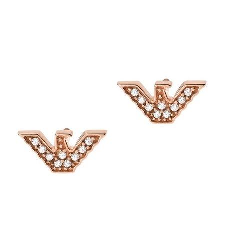 Emporio Armani  Ohrringe - Sterling Silver Eagle Stud Earring - in Quarz - für Damen