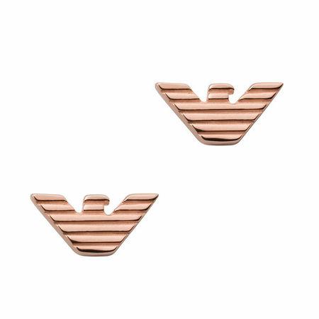 Emporio Armani  Ohrringe - Sterling Silver Stud Earrings - in Quarz - für Damen