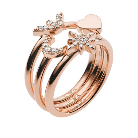Emporio Armani  Ring  -  Ladies Ring Rosegold  - in gold  -  Ring für Damen orange
