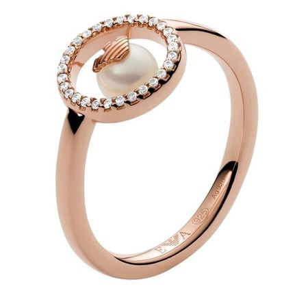 Emporio Armani  Ring - Sterling Silver Ring - in rosa - für Damen