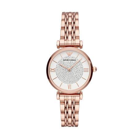 Emporio Armani  Uhr  -  AR11244 Dress Watch Roségold  - in rosa  -  Uhr für Damen braun