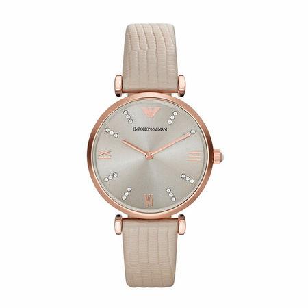 Emporio Armani  Uhr - AR1681 Retro Watch - in gold - für Damen