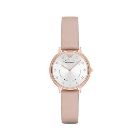 Emporio Armani  Uhr  -  AR2510 Ladies Kappa Watch Leather Nude  - in rosa  -  Uhr für Damen braun