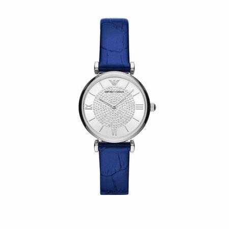 Emporio Armani  Uhr - Ladies Two-Hand Leather Watch - in blue - für Damen