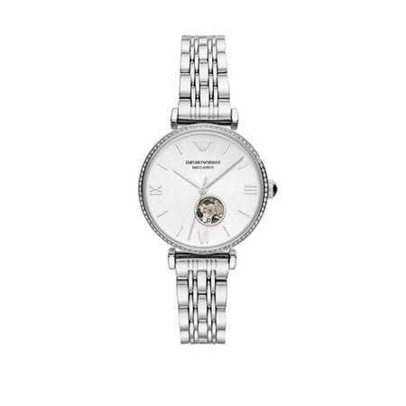 Emporio Armani  Uhr -  Three-Hand Stainless Steel Watch - in silver - für Damen