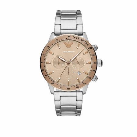 Emporio Armani  Uhren - Men Chronograph Stainless Steel Watch - in silver - für Damen