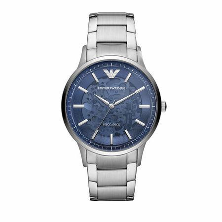 Emporio Armani  Uhren - Men's Automatic Three-Hand Stainless Steel Watch A - in silver - für Damen