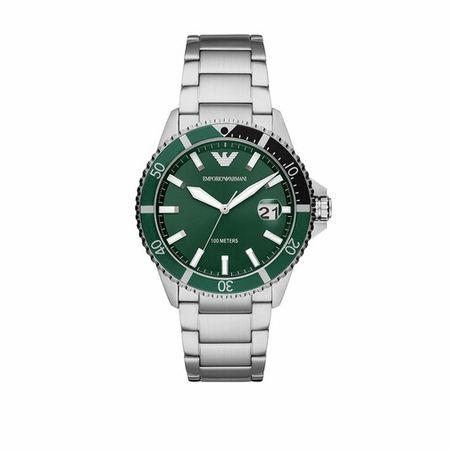Emporio Armani  Uhren - Men Three-Hand Stainless Steel Watch - in silver - für Damen