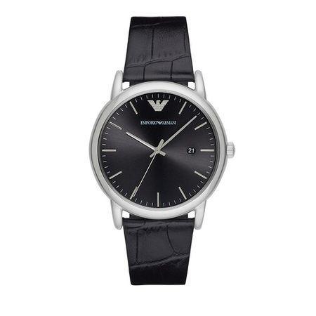 Emporio Armani  Uhren - Three-Hand Leather Watch - in black - für Damen