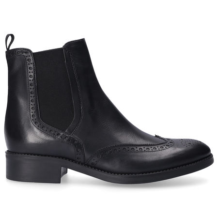 En Avant Chelsea Boots TENDER Kalbsleder Lochmuster schwarz schwarz