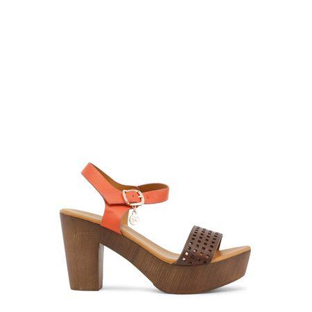 Enrico Coveri Clogs Sandale Orange braun