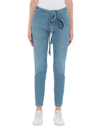 Ermanno Scervino  Damen Blau Jeanshose Baumwolle grau