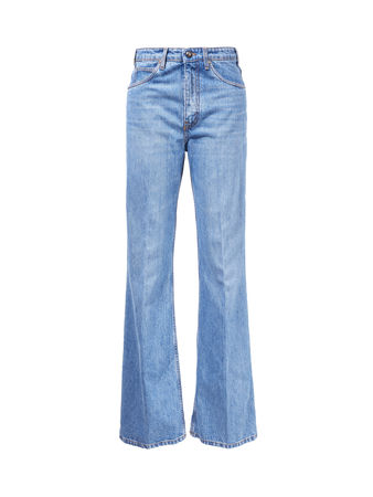 Etro  - Ausgestellte Jeans mit hoher Taille Blau blau