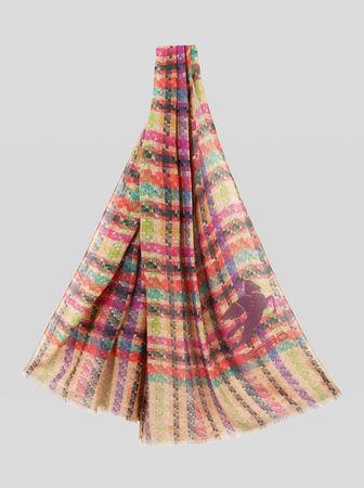 Etro Boucle-schal Aus Kaschmir, Damen, Multicolor grau