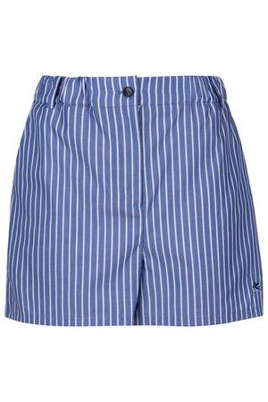 Etro gestreifte Damen Shorts Blau blau