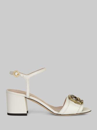 Etro Pegaso Sandalen Aus Leder, Damen, Weiß, Größe 36 braun