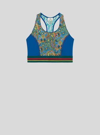 Etro Top Mit Floralem Paisley-print, Damen, Hellblau, Größe 42 grau