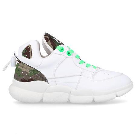 F_WD Sneaker low FWS34 Econappa Logo olive weiß grau