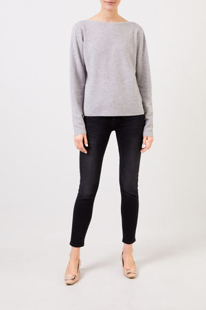 Fabiana Filippi  - Woll-Seiden-Pullover mit Struktur Grau