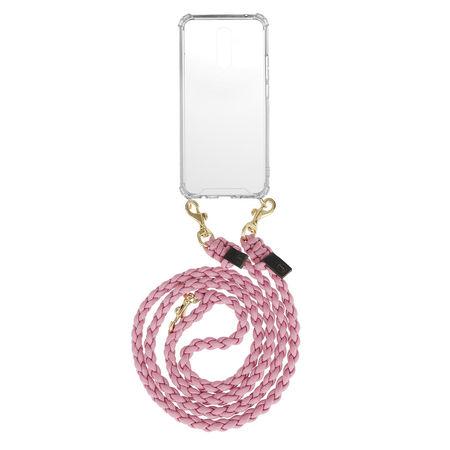Fashionette  Handyhüllen - Smartphone Mate 20 Lite Necklace Braided - in rosa - für Damen weiss