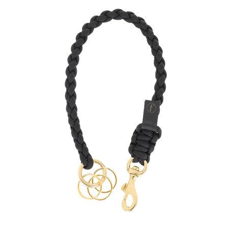 Fashionette  Keychain  -  Key Chain Small Braided Black  - in schwarz  -  Keychain für Damen grau