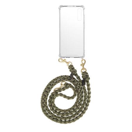 Fashionette  Smartphone Case - Smartphone P20 Necklace Braided Olive - in grün - für Damen weiss