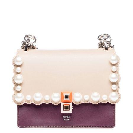 Fendi ® - Handtasche aus Leder in Beige für Damen, Größe UNI beige