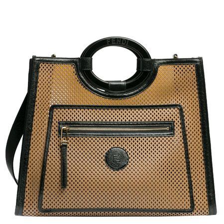 Fendi ® - Handtasche aus Leder in Braun für Damen, Größe UNI braun