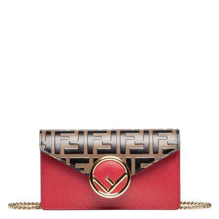 Fendi ® - Handtasche aus Leder in Mehrfarbig für Damen, Größe UNI rot