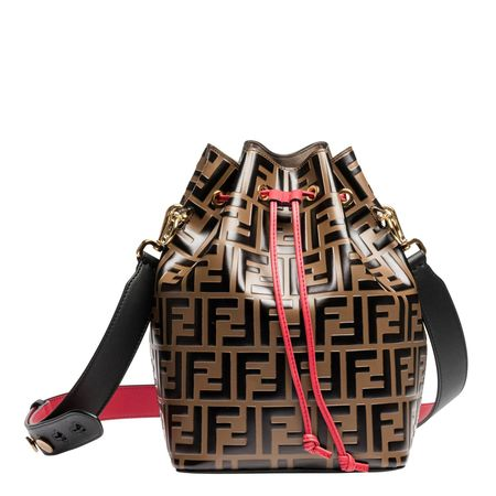 Fendi ® - Handtasche aus Leder in Mehrfarbig für Damen, Größe UNI schwarz