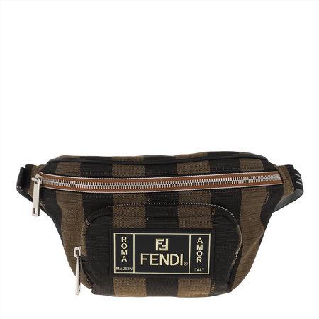 Fendi  Gürteltasche  -  Belt Bag Canvas Brown  - in braun  -  Gürteltasche für Damen schwarz