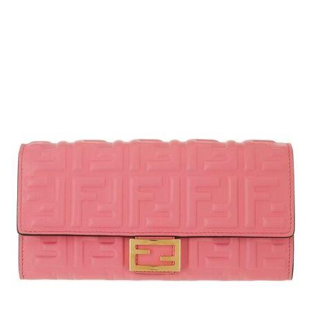 Fendi  Portemonnaie - Continental Wallet - in pink - für Damen
