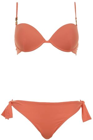 Fendi Push Up Bikini mit Bügel in leuchtendem Orange rot