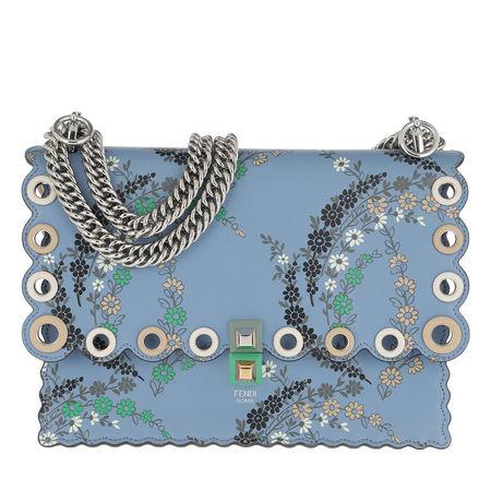 Fendi  Satchel Bag  -  Kan I Handle Bag Medium Leather Blue  - in blau  -  Satchel Bag für Damen grau