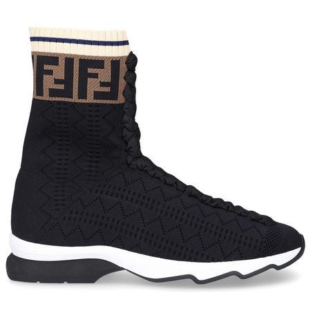 Fendi  Sneaker high 8T6515 Polyamid braun schwarz schwarz