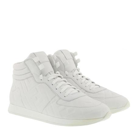 Fendi  Sneakers  -  High Top Sneaker Leather White  - in weiß  -  Sneakers für Damen grau