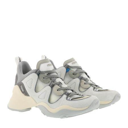 Fendi  Sneakers  -  Sneakers Suede Latte  - in weiß  -  Sneakers für Damen braun