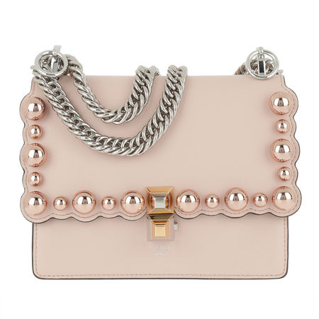 Fendi  Tasche  -  Kan I Small Shoulder Bag Soap Rosa  - in rosa  -  Tasche für Damen braun