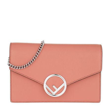 Fendi  Tasche  -  Wallet on Chain Leather Macaroon  - in rosa  -  Tasche für Damen rot