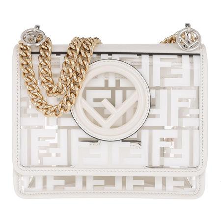 Fendi  Umhängetasche  -  Kan I F Small Mini Bag White  - in weiß  -  Umhängetasche für Damen grau