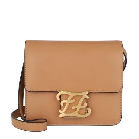Fendi  Umhängetasche  -  Karligraphy Crossbody Bag Beige  - in braun  -  Umhängetasche für Damen orange